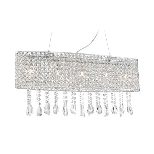 Lite Source Lighting Lite Source Mckayla Chrome Island Light EL-10138