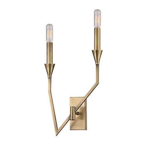 Hudson Valley Lighting Hudson Valley Lighting Archie Aged Brass Sconce 8502R-AGB