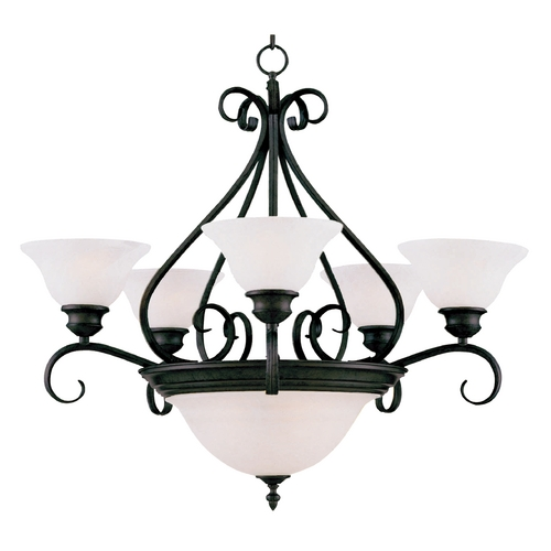 Maxim Lighting Maxim Lighting Pacific Kentucky Bronze Chandeliers with Center Bowl 2656MRKB