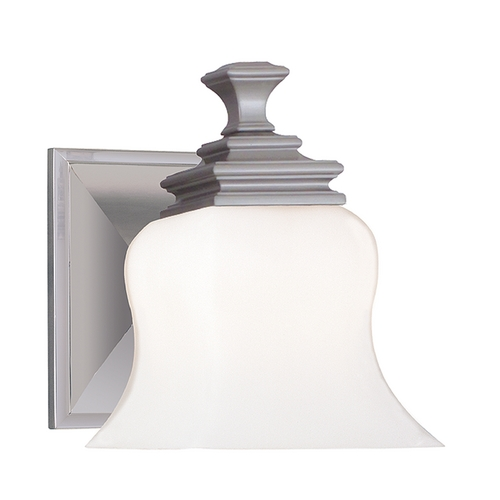 Hudson Valley Lighting Sconce with White Glass in Satin Nickel Finish 5501-SN
