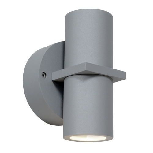Access Lighting Outdoor Wall Light with Clear Glass in Satin Nickel Finish 20352MG-SAT/CLR