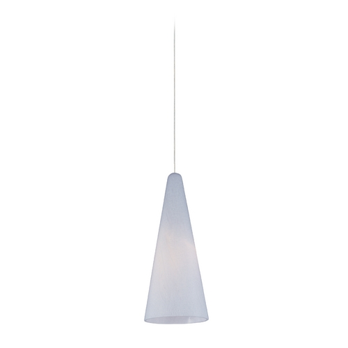 ET2 Lighting Modern Low Voltage Mini-Pendant Light with White Glass E94428-101SN