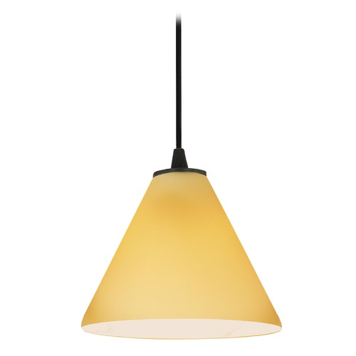 Access Lighting Access Lighting Sydney Inari Silk Oil Rubbed Bronze Mini-Pendant with Conical Shade 28004-1C-ORB/AMB