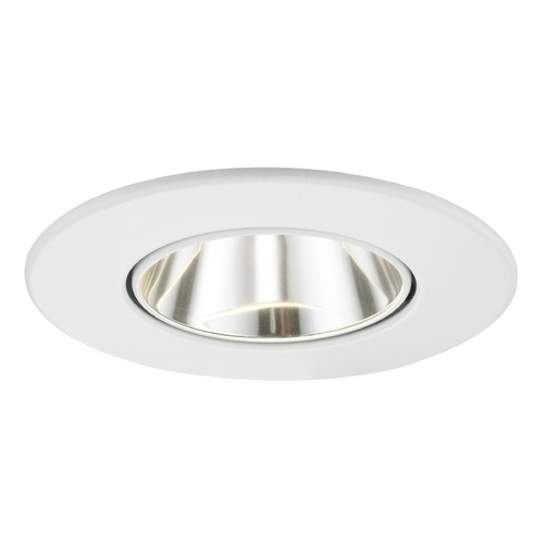 Recesso Lighting by Dolan Designs Clear Adjustable Reflector Trim for 3.5-Inch Recessed Cans T350C-WH