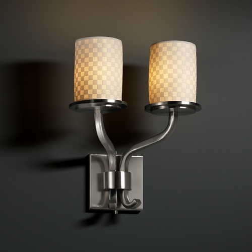 Justice Design Group Justice Design Group Limoges Collection Sconce POR-8782-10-CHKR-NCKL