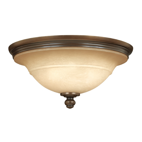 Hinkley Lighting Bathroom Light with Brown Glass in Olde Bronze Finish 4241OB