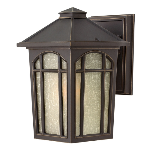 Hinkley Lighting Outdoor Wall Light with White Glass in Oil Rubbed Bronze Finish 1980OZ-GU24