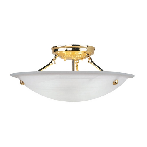 Livex Lighting Livex Lighting Oasis Polished Brass Semi-Flushmount Light 4274-02