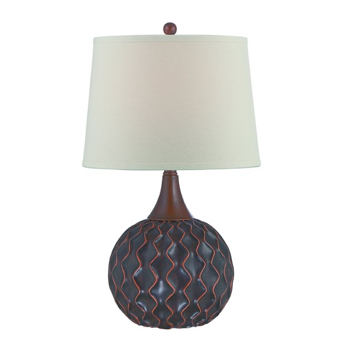 Lite Source Lighting Lite Source Belita Dark Bronze Table Lamp with Drum Shade LS-22460