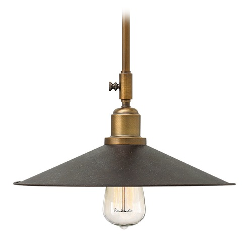 Hinkley Lighting Hinkley Lighting Elliot Regency Bronze Mini-Pendant Light with Coolie Shade 3054RB