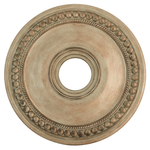 Livex Lighting Livex Lighting Wingate Hand Painted Antique Silver Leaf Ceiling Medallion 82074-73