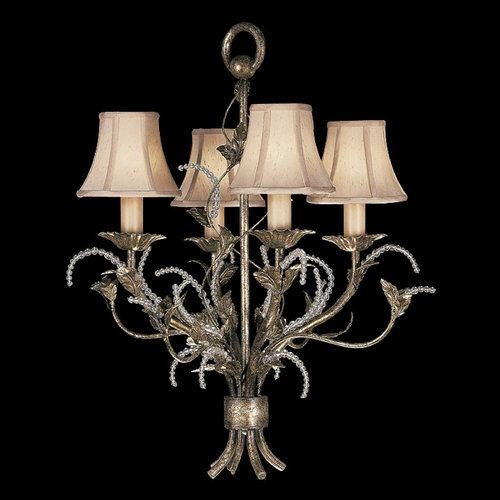 Fine Art Lamps Fine Art Lamps a Midsummer Nights Dream Cool Moonlit Patina Crystal Chandelier 163740ST