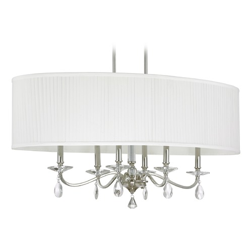 Capital Lighting Capital Lighting Alisa Polished Nickel Island Light with Oval Shade 4487PN-621