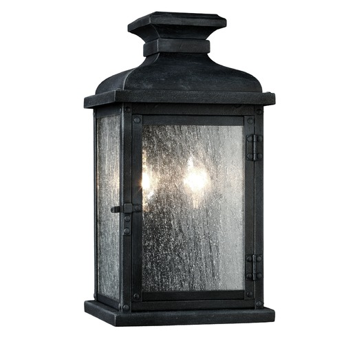 Feiss Lighting Feiss Lighting Pediment Dark Weathered Zinc Outdoor Wall Light OL11100DWZ