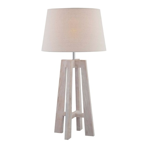 Lite Source Lighting Lite Source Homer White Wash Table Lamp with Empire Shade LS-22813
