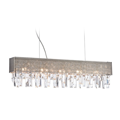 Elk Lighting Elk Lighting Crystal Vallance Polished Chrome Island Light 18505/5