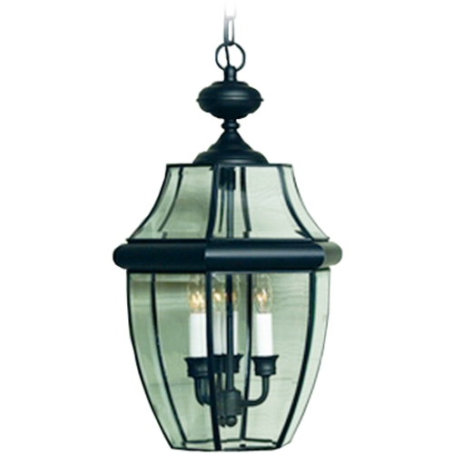 Quoizel Lighting 2-Lt Outdoor Hanging Light with Clear Glass - Black Finish NY1178K