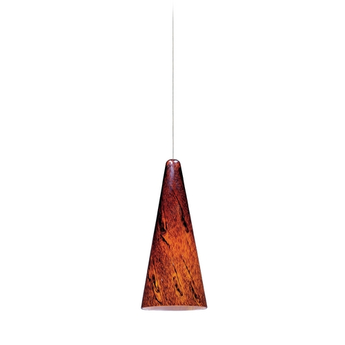 ET2 Lighting Modern Low Voltage Mini-Pendant Light with Amber Glass E94429-102SN