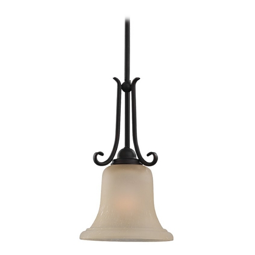 Sea Gull Lighting Mini-Pendant Light with Beige / Cream Glass 61120-820
