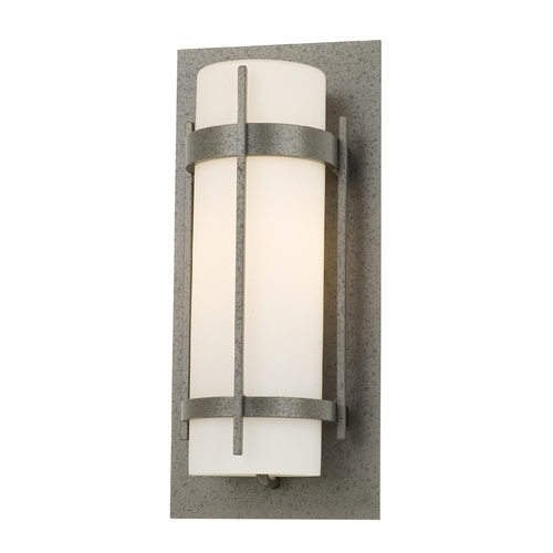 Hubbardton Forge Lighting Outdoor Wall Light in Iron Finish - 15-4/5-Inches Tall 305893-20-G34