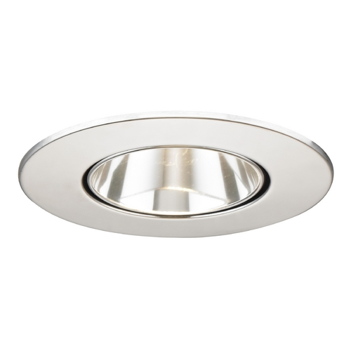 Recesso Lighting by Dolan Designs Clear Adjustable Reflector Trim with Chrome Ring for 3.5-Inch Recessed Cans T350C-CH