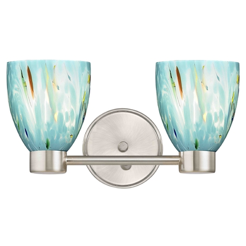Design Classics Lighting Aon Fuse Modern Satin Nickel Bathroom Light with Bell Glass 1802-09 GL1021MB