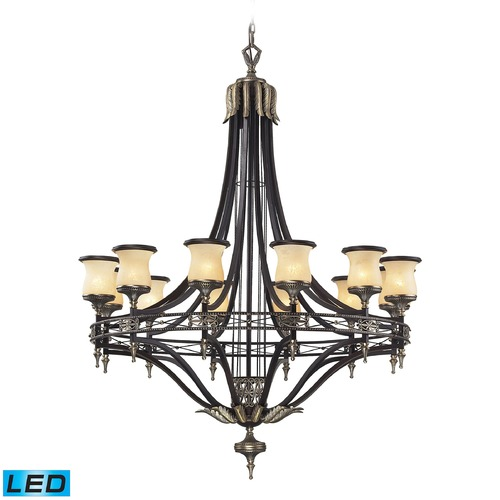 Elk Lighting Elk Lighting Georgian Court Antique Bronze, Dark Umber LED Chandelier 2434/12-LED