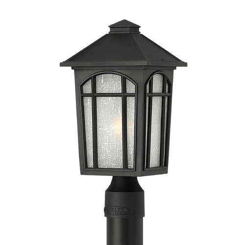 Hinkley Lighting Post Light with White Glass in Black Finish 1981BK-GU24