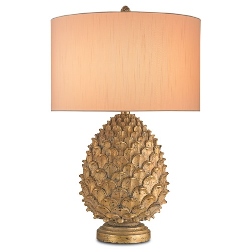 Currey and Company Lighting Currey and Company Lighting Royale Antique Gold Leaf Table Lamp with Drum Shade 6817
