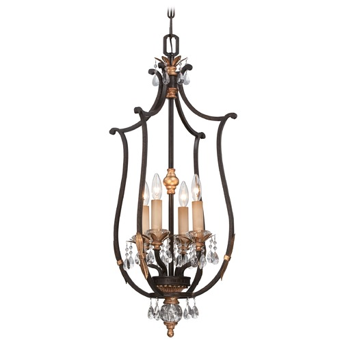 Metropolitan Lighting Metropolitan Bella Cristallo French Bronze W/ Gold Highligh Pendant Light N6644-258B