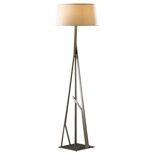 Hubbardton Forge Lighting Hubbardton Forge Lighting Arbo Burnished Steel Floor Lamp with Empire Shade 247690-08-765