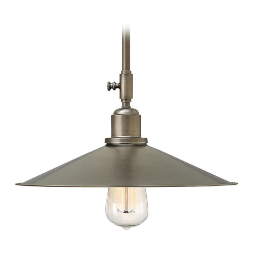 Hinkley Lighting Hinkley Lighting Elliot Antique Nickel Mini-Pendant Light with Coolie Shade 3054AN