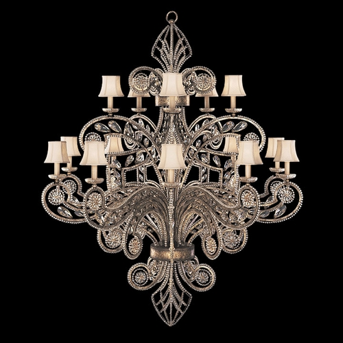 Fine Art Lamps Fine Art Lamps a Midsummer Nights Dream Cool Moonlit Patina Crystal Chandelier 163940ST