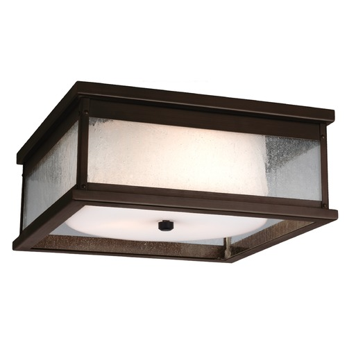 Feiss Lighting Feiss Lighting Pediment Dark Aged Copper Close To Ceiling Light OL11113DAC