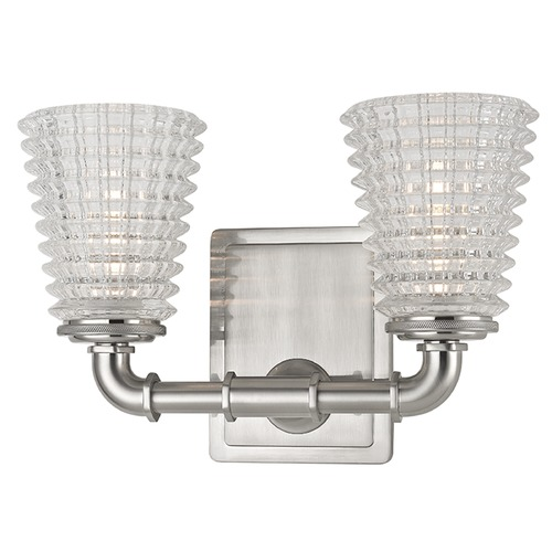 Hudson Valley Lighting Westbrook 2 Light Bathroom Light - Satin Nickel 6222-SN