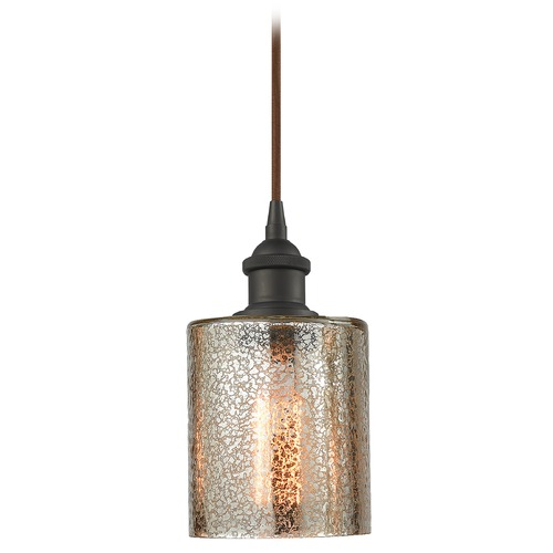Innovations Lighting Innovations Lighting Cobbleskill Oil Rubbed Bronze Mini-Pendant Light with Cylindrical Shade 516-1P-OB-G116