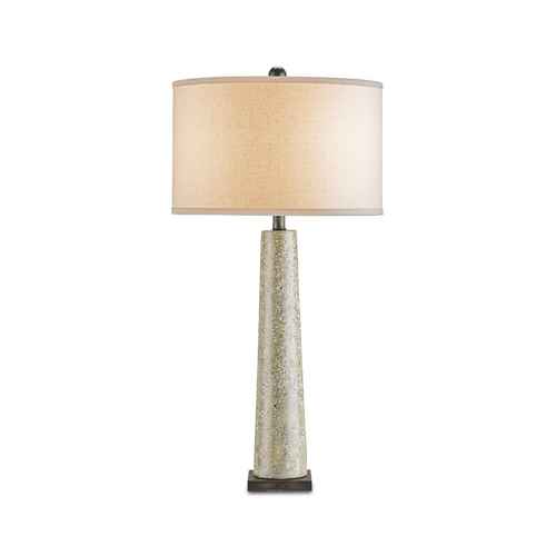 Currey and Company Lighting Modern Table Lamp in Polished Concrete/aged Steel Finish 6388