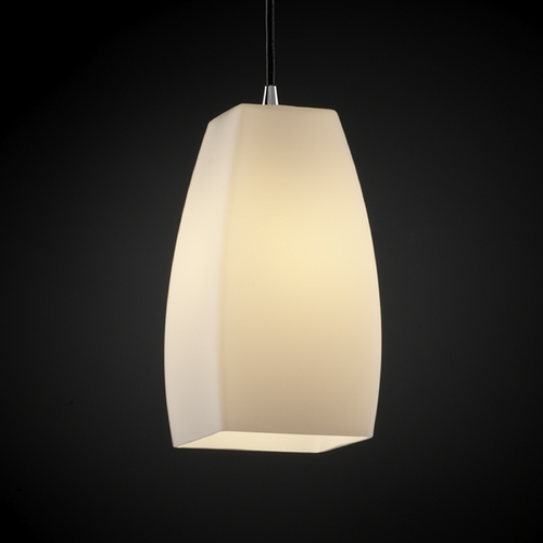Justice Design Group Justice Design Group Fusion Collection Mini-Pendant Light FSN-8816-65-OPAL-CROM