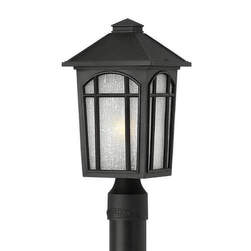 Hinkley Lighting LED Post Light with White Glass in Black Finish 1981BK-LED
