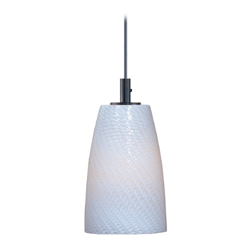 ET2 Lighting Carte Bronze Mini-Pendant Light with Bowl / Dome Shade E91041-13BZ