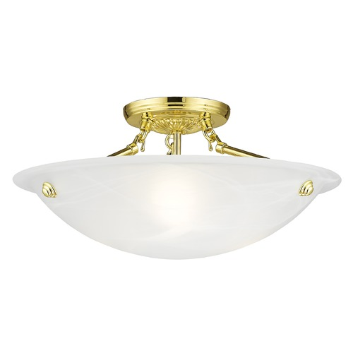Livex Lighting Livex Lighting Oasis Polished Brass Semi-Flushmount Light 4273-02