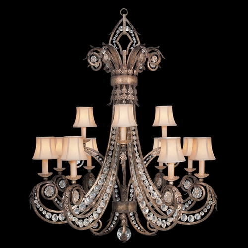 Fine Art Lamps Fine Art Lamps a Midsummer Nights Dream Cool Moonlit Patina Crystal Chandelier 171740ST