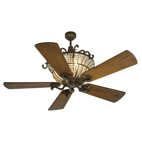 Craftmade Lighting Craftmade Lighting Cortana Peruvian Bronze Ceiling Fan with Light K10660