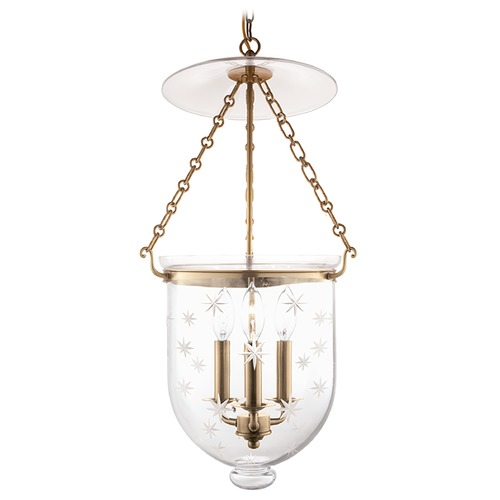 Hudson Valley Lighting Hudson Valley Lighting Hampton Aged Brass Pendant Light with Bowl / Dome Shade 254-AGB-C3