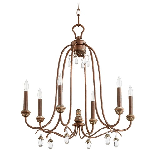 Quorum Lighting Quorum Lighting Venice Vintage Copper Chandelier 6144-6-39