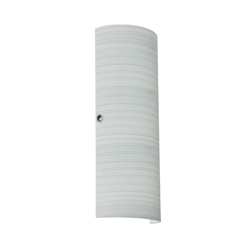 Besa Lighting Sconce Wall Light with Grey Glass in Satin Nickel Finish 8193KR-SN