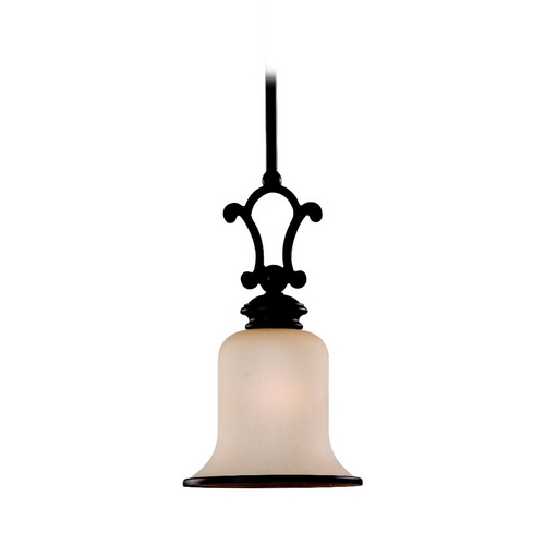Sea Gull Lighting Mini-Pendant Light with Champagne Seeded Glass - Energy Star Rated 61145BLE-814