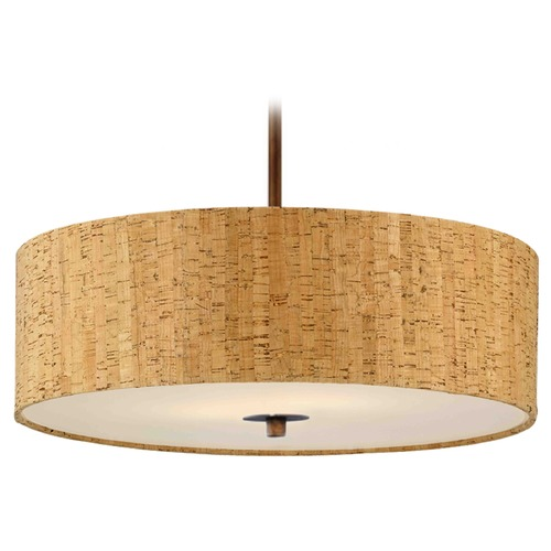 Design Classics Lighting Cork Drum Pendant Light in Bronze DCL 6528-604 SH7458  KIT