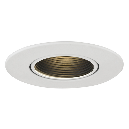 Recesso Lighting by Dolan Designs GU10 Black Baffle Adjustable Trim for 3.5-Inch Recessed Cans T353B-WH