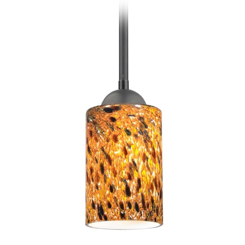Design Classics Lighting Design Classics Gala Fuse Matte Black LED Mini-Pendant Light with Cylindrical Shade 681-07 GL1005C
